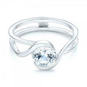 Jewelry - 2 carat sparkling bezel set round diamond wedding
